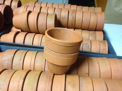 Vintage Original Small Thick  Terracotta Pots X 12