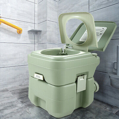 5 Gallon 20L Portable Toilet Flush Travel Camping Potty Commode Outdoor/Indoor