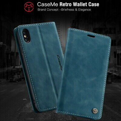 Ultra-thin Luxury Retro Leather Card Pocket Wallet Stand Flip Phone Case Cover