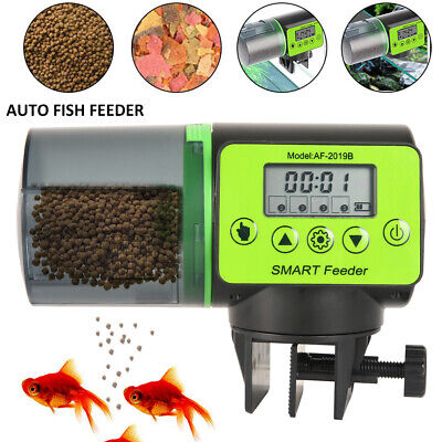Automatic Fish Feeder Pond Koi Holiday Timer Digital Timer Auto Dispense Feed