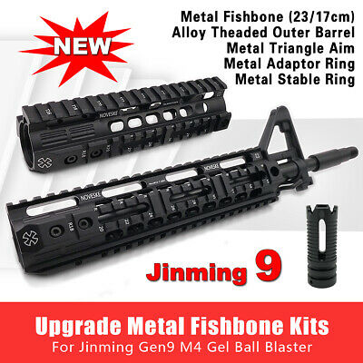 Metal Fishbone Upgrade Material Adaptor Ring For JinMing Gen8/9 M4A1 Blaster