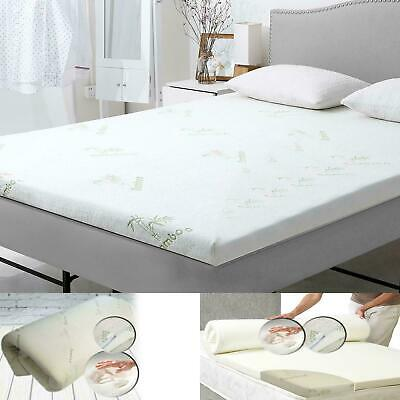 "1"" 1.60"" Bamboo Memory Foam Bed Mattress Topper Soft Thick SPECIAL PRICE"