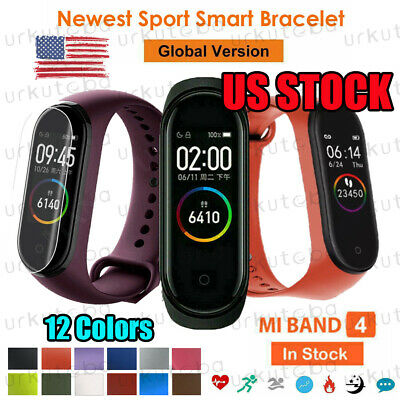 US Xiaomi Mi Band4 Smart Bracelet Watch BT 5.0 Heart Rate Monitor Global Version