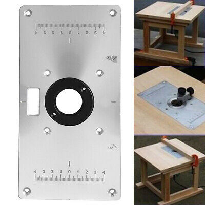 Aluminium Alloy With 4 Insert Rings Router Table Plate Practical  For Trimmer