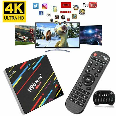 4GB/64GB H96 MAX Plus+ Android 9.0 4K Smart TV Box Quad Core WIFI + Tastatur
