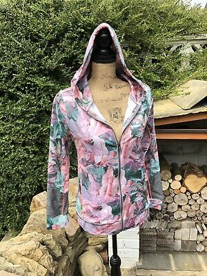 Next Girls Floral Grey & Pink Sporty Hoody Age 14. Summer Lightweight Holiday