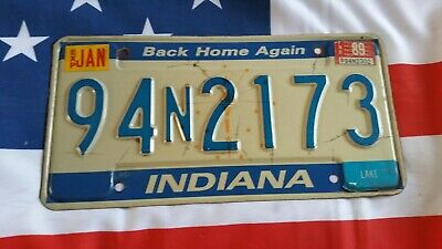 Plaque d'immatriculation Indiana 94N2173 US USA license plate