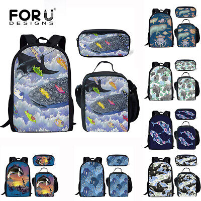 Whale School Backpack and Pencil Case Set