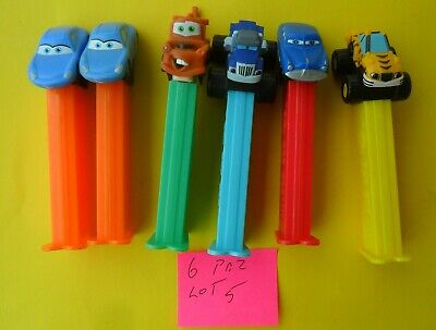 6 Mixed Pez Dispensers In Good Condition Dates Unknown Tracking Post Lot 5