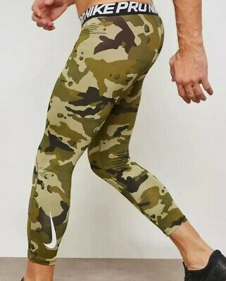 cad4e801a0d77 NIKE PRO HYPERCOOL Digital Camo 3/4 Length Training Tights White ...