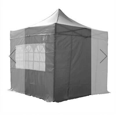 Grey Pop Up Waterproof Gazebo, 2 WindBars and 4 Leg Weights 2.5x2.5mtr