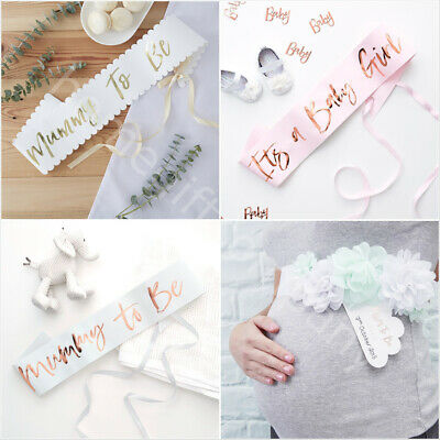 Mum To be Sash Baby Shower Party Accessories Mummy To Be, Baby Boy & Baby Girl