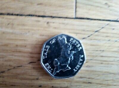 Circulated The Tale Of Peter Rabbit 50P Coin 2017 Fifty Pence Beatrix Potter