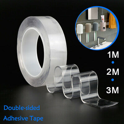 Magic Double-sided Tape Traceless Reusable Adhesive Tape Nano Invisible Gel Glue