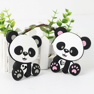 Cartoon Panda Baby Teether Silicone Pacifier Soother Teething Nursing Toy Gift