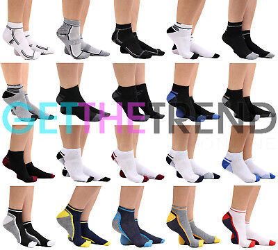 6 Pack Trainer Socks Mens 6X Ankle Running Gym Fitness Socks Cotton New Men