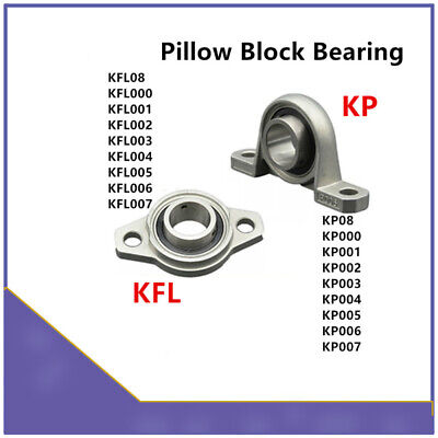 KP08 KFL08 Dia 8 10 12 30mm Bore Ball Bearing Pillow Block Mounted Support 4Pcs