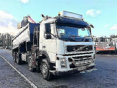 2007 Volvo Fm13-360 Euro 4 8X4 Tipper With Epilson 120 Plus Crane With Grab