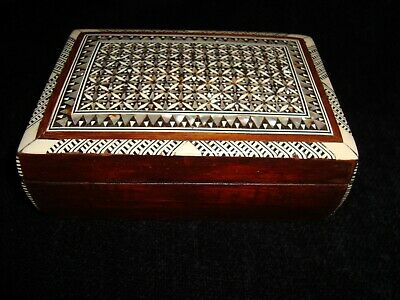 Small Antique-Vintage Micro Mosaic Wooden Box