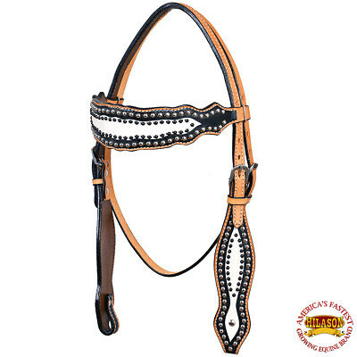 Horse Saddle Tack Bridle Western Leather Headstall Brown Rodeo Carved 78169HB