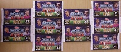 Match Attax 101 ~ 10 x Sealed Booster Packs = 70 Cards