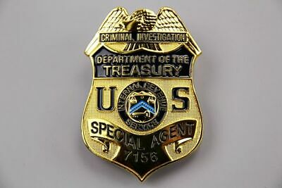 Unofficial Special Agent US Police Badge #7156 Gold