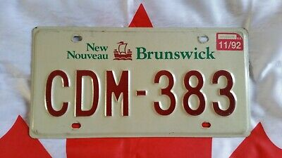 Plaque d'immatriculation New Brunswick  Canadian License Plate