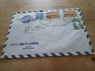 FINLAND TO UK COVER £2.99 POST FREE WORLDWIDE 4 x  STAMPS  bx4