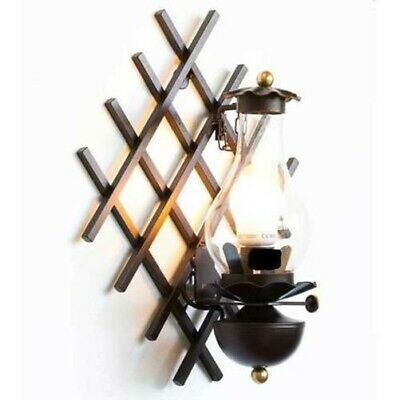 Wall Lamp Wall Wrought Iron with Glass Mod.vecchi Stroke Glass