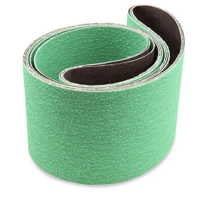 90x100mm Sanding Belts Deburring 3pcs Metalworking Ceramic Replacement Set