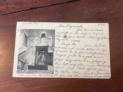 Postcard Private Mailing Card Liberty Bell And Staircase Independence Hall