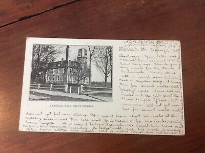Postcard Private Mailing Card Memorial Hall Colby College Waterville Maine