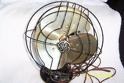 """VNTG. GENERAL ELECTRIC 10"""" Oscillating QUIET FAN 55 x 165B ~ 3 Bladed & Works!"""