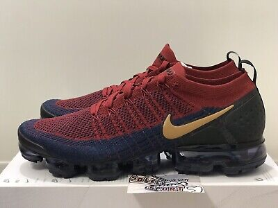 New Nike Air Vapormax Flyknit 2 USA Olympic Red Blue 942842 604 Max Plus Mens 12
