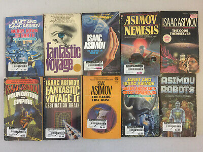 Isaac Asimov PB Science Fiction Norby Chronicles Second Foundation Lot of 19
