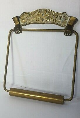 Antique Paper Co Australia Brass Toilet Roll Holder John Dunne & W. C. Dyke