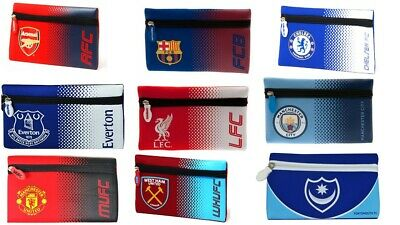 Boys Kids Girls Official Football Club Pencil Cases Back to School Equipment Zip