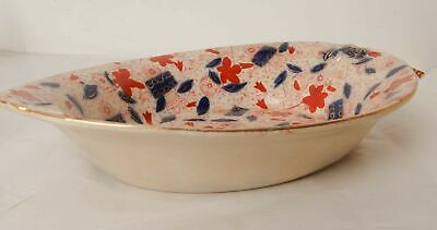 Large Vintage Serving Dish with Hand Painted Flowers