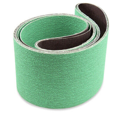 90x100mm Sanding Belts 3pcs Metalworking Grinding Ceramic Replacement Set