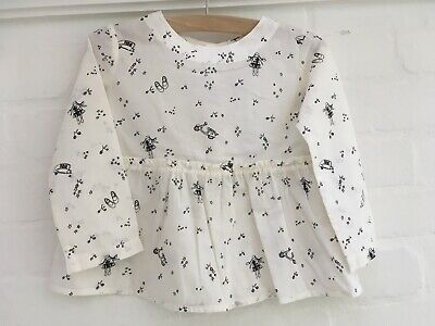 BONPOINT Girls' Printed Long Sleeve Top Blouse Size 3 years