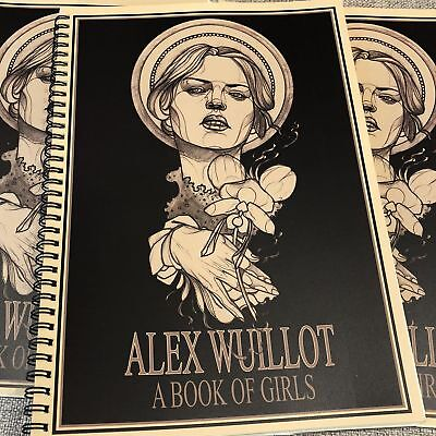 Alex Wuillot - A Book of Girls - Neo Traditional Tattoo Flash Book