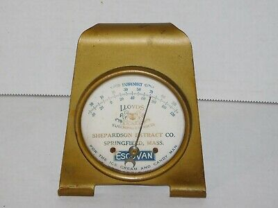 Antique 1920s Ice Cream Candy Flavoring Extract Stove Thermometer Vtg Moon Gauge