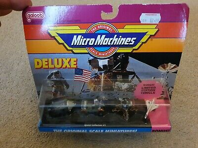 Vintage Micro Machines Deluxe Moon Landing With Bonus Limited Edition Vehicle