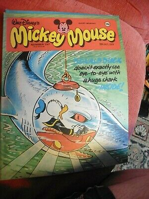 walt disneys mickey mouse rare comic 197 1979 20000 leagues under the sea
