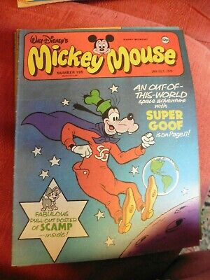 walt disneys mickey mouse rare comic 195 1979 20000 leagues under the sea