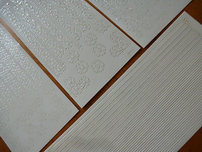 5 Sheets of Double Sided Sticky White Stickers for Card Making & Scrapbooking
