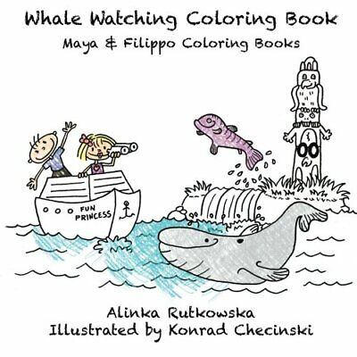 Whale Watching Coloring Book Maya Filippo Coloring Books By Alinka New