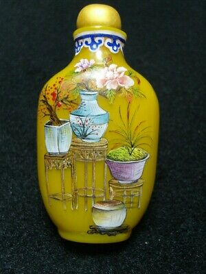Exquisite Chinese enamel glass Snuff bottle- See Video             2