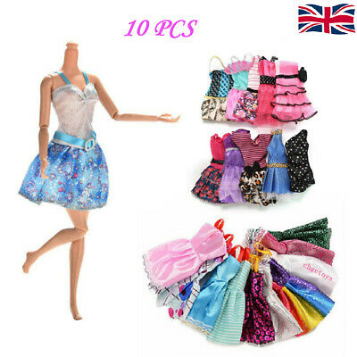 Dresses for Barbie Doll Fashion Party Girl Dresses Clothes Gown Toy Gift 10Pcs #