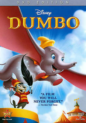 Disney Dumbo the Elephant DVD in case w/ insert Authentic USA Release